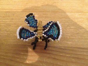pjuskete perle sommerfugl